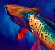 "Rainbow Trout Fish Art ""Trout Dreams"" by Mike Savlen"