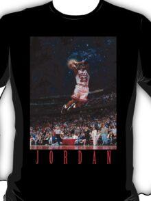 Michael Jordan Space Text T-Shirt