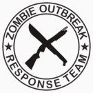 ZOMBIE OUTBREAk RESPONSE TEAM gun & Machete by Tony  Bazidlo