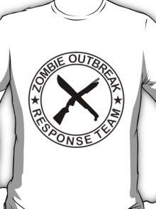 ZOMBIE OUTBREAk RESPONSE TEAM gun & Machete T-Shirt