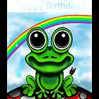 Frog Birthday Card by Sookiesooker