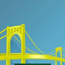 Minimalist PNC Park - Pittsburgh (no text) by pootpoot