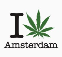 I Marijuana Amsterdam by crazytees