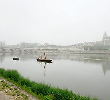 View on misty Blois by Arie Koene