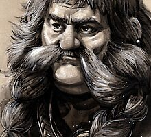 Bombur the Dwarf by evankart