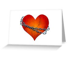 chained heart Greeting Card