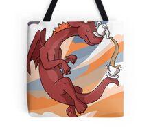 Red Tea Dragon Tote Bag