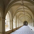 Arcade of abbey of Fontrevaud by Arie Koene