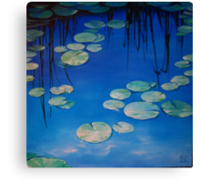 Still Waters with Lilypads Canvas Print