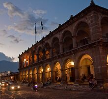 Guatemala. Antigua. City Hall. Sunset. by vadim19