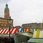 Norwich Market and City Hall by SaraHardman