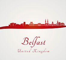 Belfast skyline in red by paulrommer