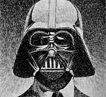 Darth Vader portrait - Fingerprint drawing by nicolasjolly