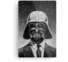Darth Vader portrait - Fingerprint drawing Metal Print