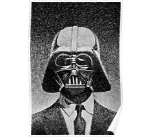 Darth Vader portrait - Fingerprint drawing Poster