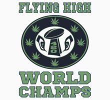 Flying High World Champs Seahawks T Shirt by xdurango