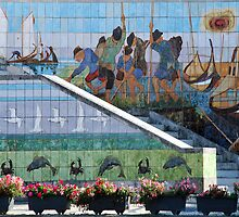 Daily life of Aveiro on tiles by Arie Koene