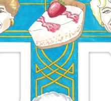 "Gold N Girls ""Appetite for Cheesecake"" Shirt Sticker"