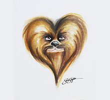 Chewbacca Star Wars Heart Art by samskyler