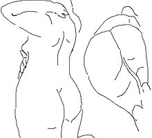 2 x Female Nudes -(070214)- Digital artwork/MS Paint by paulramnora