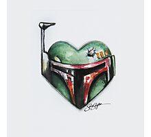 Boba Fett Star Wars Heart Photographic Print