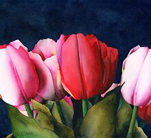 Sennelier Tulips by Ken Powers