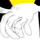 Body parts: Hand Study -(080214)- Digital artwork/MS Paint by paulramnora