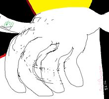 Body parts: Hand Study -(080214)- Digital artwork/MS Paint by paulramnora