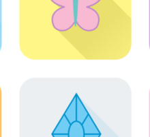My Little Pony - Mane Six Flat Icons Sticker