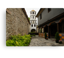 Of Courtyards and Belfries  Canvas Print
