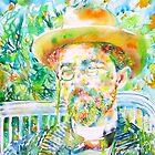 ANTON CHEKHOV - watercolor portrait.1 by lautir