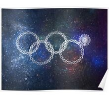 Sochi Olympic Rings Poster