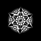 Black and white mandala by siriusreno