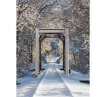 Snowy Train Trestle Photographic Print