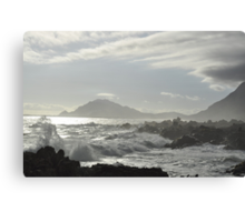 Silver Sunset Canvas Print
