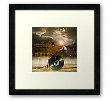 Music Man in the City Framed Print