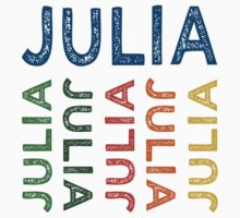 Julia Cute Colorful by Wordy Type