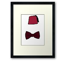 Fezzes/Bowties are Cool Framed Print