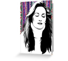 Meryl Streep is more hip than you. Greeting Card