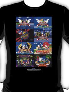 Sonic Mega Drive Title Screens (Europe Logo) T-Shirt