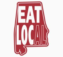 eat local red print Kids Clothes