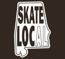 skate local white print by BuyLocal