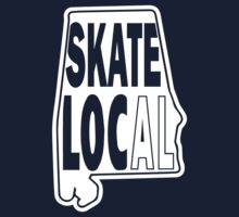 skate local white print Kids Clothes
