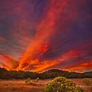 Sunset at Nicholas Flats in the Santa Monica Mountains by Yves Rubin
