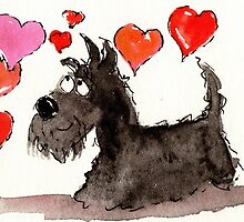 Scottie Dog ' Love Hearts' by archyscottie