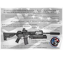 CONSTITUTIONAL RIGHT to BEAR ARMS Poster