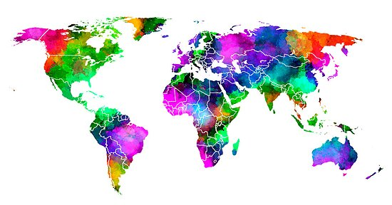 VIBRANT MAP of the WORLD by Daniel-Hagerman