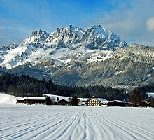 Wilder Kaiser-mountains - Austria by Arie Koene