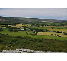 The Burren and it's Farmlands County Clare Ireland- Photographic Print