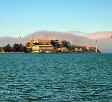 Alcatraz and Golden Gate by worldandwind